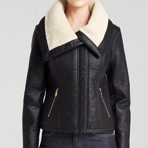 NEW Sam Edelman S SMALL Vegan Leather Jacket Coat